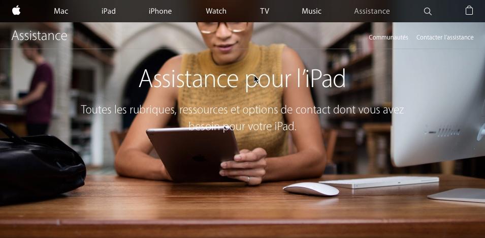 Assistance pour l'iPad
